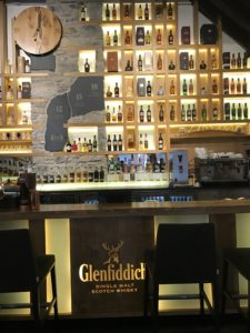 bar at the Glenfiddich distillery